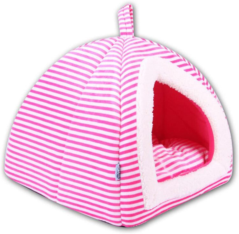 Pet Sleeping Bag Four Seasons Universal Yurt Pet Kennel Pad Small Pet Tent Small House,Pink,L