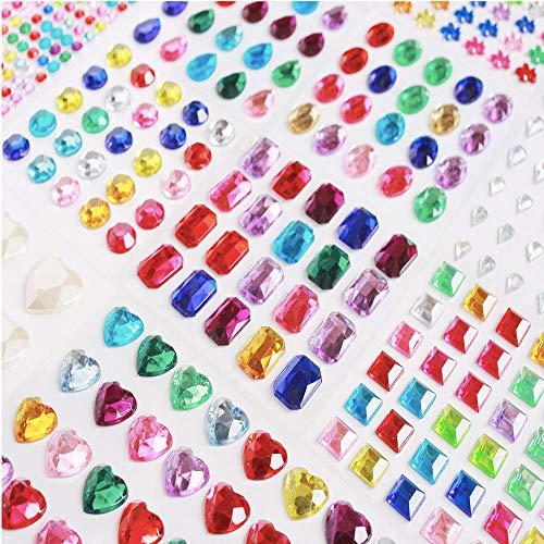 3000pcs+ Gem Stickers Jewels Stickers Rhinestone for Crafts Sticker...
