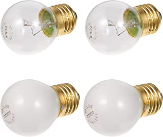 SOLUSTRE 4Pcs E27 Base Gloeilamp Oven Lamp Hoge Temp Hittebestendige Wolfraam 40W Gloeilamp Voor Magnetron Koelkast