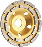 AGT Professional Diamantschleifscheibe: Diamant-Schleiftopf für Winkelschleifer, 2-fache Ringanordnung, 125 mm (Topfscheibe)