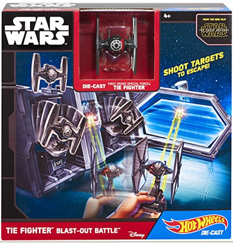 Hot Wheels Ensemble de Jeu TIE Fighter de Star Wars Bataille d'explosifs