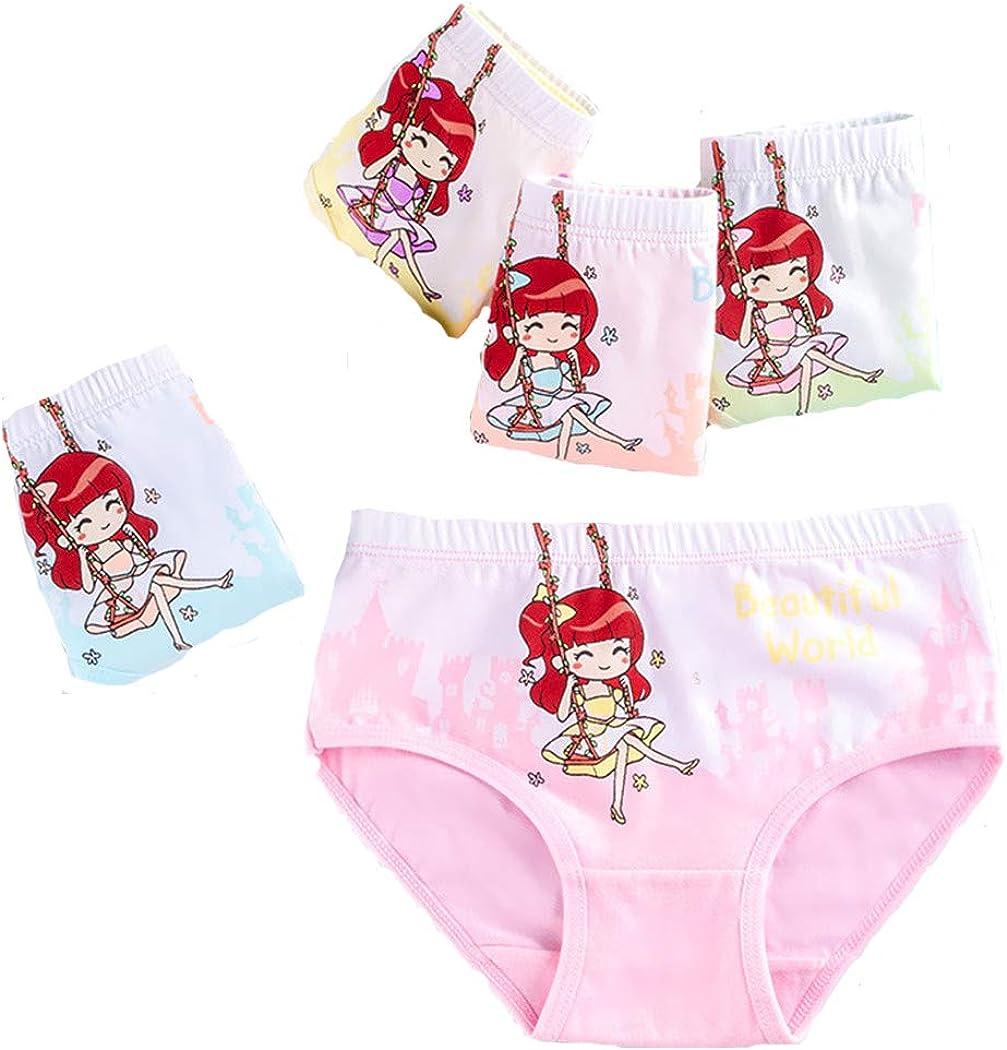 Wxllzlife Toddler Little Girls Kids Underwear Cotton Kids Girls' Panties 4/5 Pack