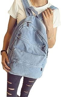 ShengTu Girls Vintage Denim School Bag College Jeans Backpack