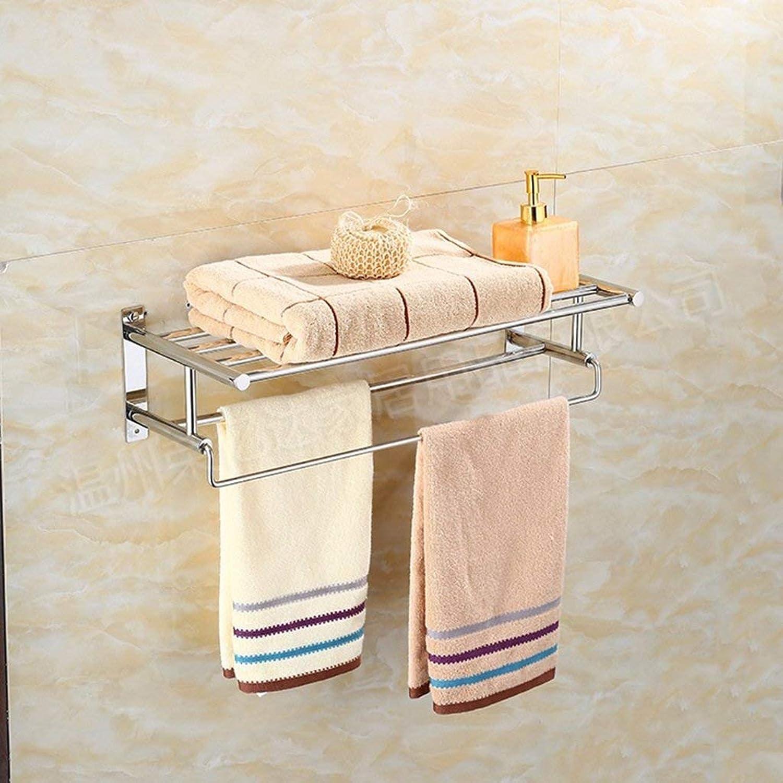 Towel Rack Stainless Steel Towel Rack Bathroom Towel Rack NBN Bathroom Towel Shelf (color   Chrome)