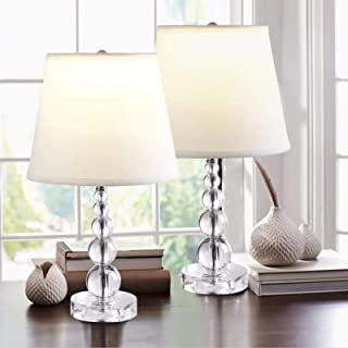 2 x Crystal Table Lamp, Nightstand Decorative Room Desk...