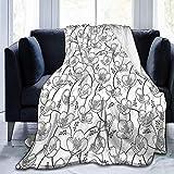 Henry Anthony Suave Micro Fleece Manta cálida Esquema de Flores de jazmín en...
