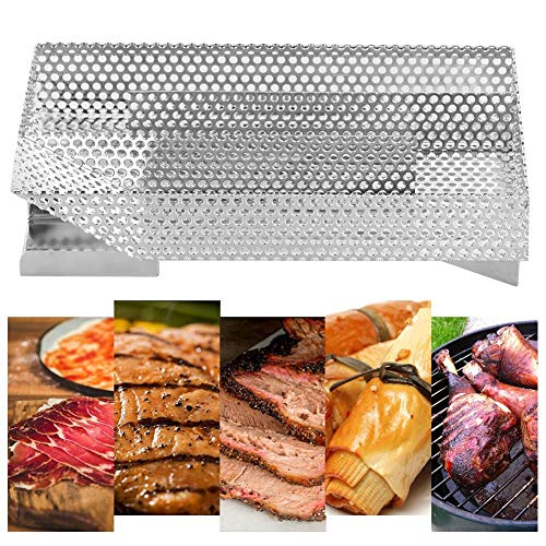 Koudrookgenerator voor grill, rookoven, hout, grill-gereedschap, van roestvrij staal, 20 x 12,5 x 4,5 cm