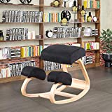 Knee Stool for Better Posture, Rocking Wooden Kneeling Computer Posture Chair Perfect for Body Shaping and Stress Relief...