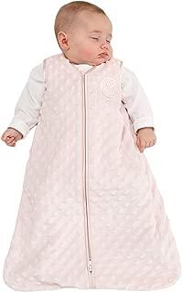 HALO SleepSack Wearable Blanket, Velboa, Pink Plush Dots, Large