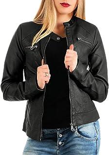 ONLY Damen Jacke BANDIT PU BIKER NOOS, FR: 40 (Taille fabricant: 38), Noir (Black C-N10)