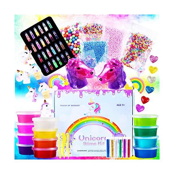 Unicorn Slime Kit for Girls - Slime for Girls, Fluffy Premade Slime with Unicorn Slime Charms, Glitter, DIY Pink, Toys… 4