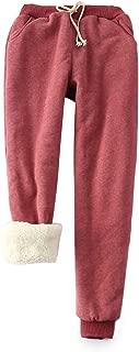 Yeokou Women's Warm Sherpa Lined Athletic Sweatpants Joggers Fleece Pants