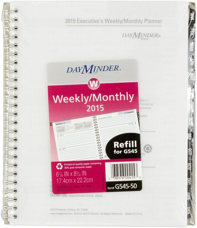 DayMinder Executive Weekly Monthly Planner Refill for G545-14 and and and G545-00 2015, 6.88 x 8.75 Inch Page Größe (G545-50) by DayMinder B00K1A50CC   Spielzeugwelt, spielen Sie Ihre eigene Welt  ba6e69