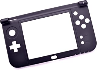Deal4GO Replacement Hinge Part Bottom Middle Shell Housing Cover Midframe Case for Nintendo New 3DS XL/New 3DS LL (Black)
