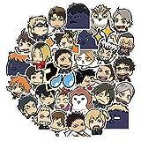 YMSD 40pcs Volley Anime Pegatinas Bola Adolescente Mano Cuenta Material Lindo Diy Mano Cuenta Libro Emoticon Paquete Etiqueta...