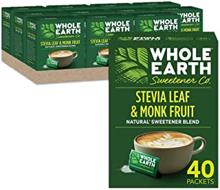 Whole Earth Sweetener Co. Stevia & Monk Fruit Sweetener, Erythritol Sweetener, Sweet Leaf Stevia Packets, S...