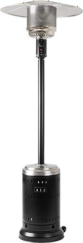 Amazon Basics Parasol chauffant commercial Acier inoxydable et noir