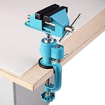 Amatt, verstellbarer Mini Schraubstock mit Klemme für