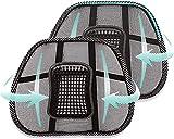 Casaviva 2 x Soporte lumbar de malla para silla y coche, cojín de malla para Smart Working, para ofi...