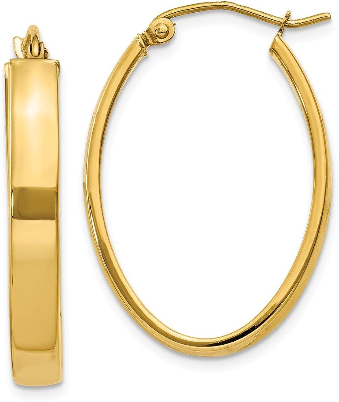 Yellowgold 14k Lightweight Oval Hoop Earrings