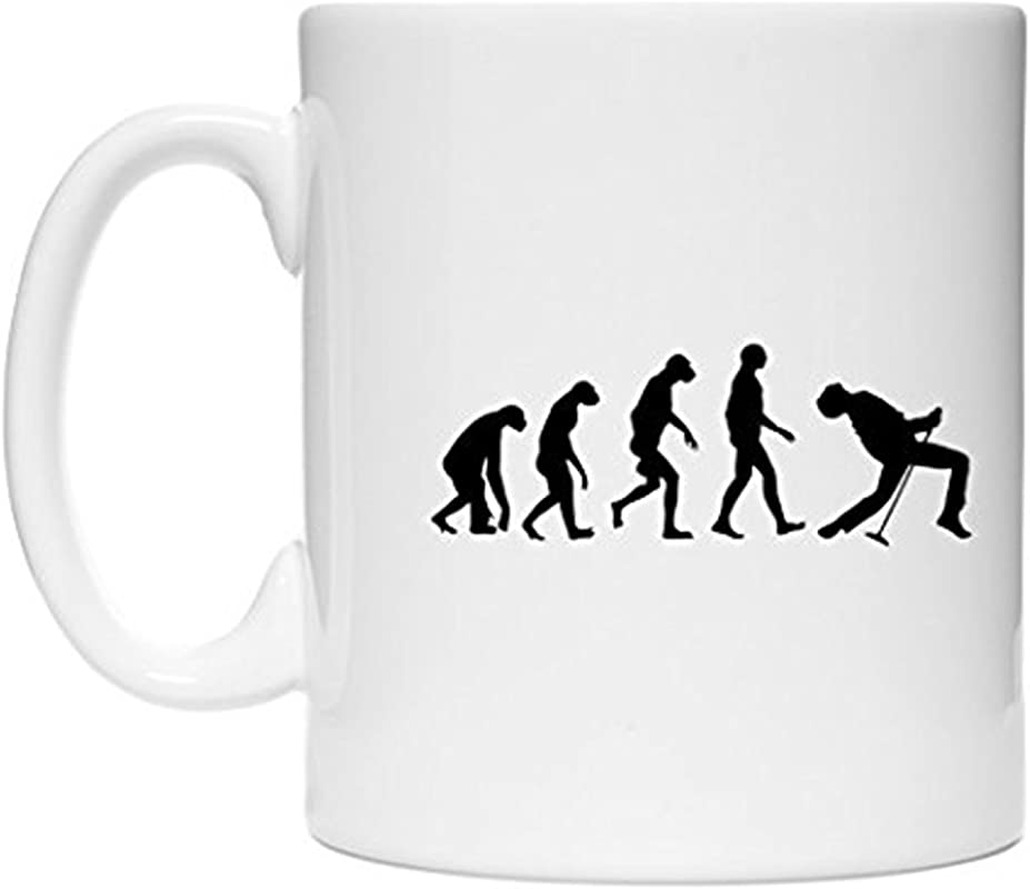 ZMvise Freddie Mercury Evolution Fashion Quotes White Ceramic Mug Cup Perfect Christmas Halloween Gfit
