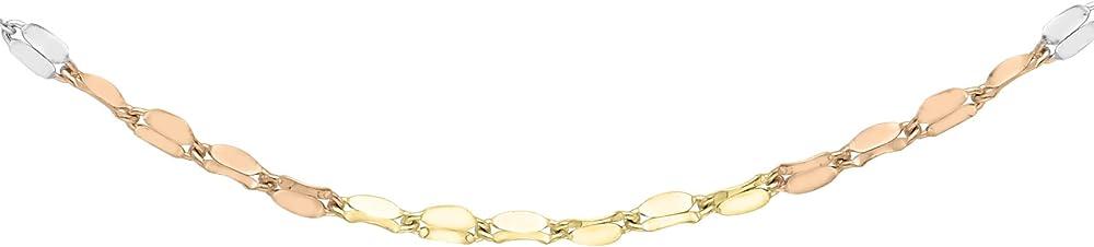Carissima gold  collana da donna  in oro giallo, bianco, rosso 9k (375)(1,5 gr) 3.19.4034