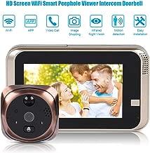 Garsent Peephole Doorbell, 4.3inch HD 720P WiFi Smart Video Doorbell Peephole Viewer Camera con Visión Nocturna, Audio Bidireccional, 166 ° ángulo Ancho, Detección de Movimiento, App Control