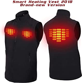 Heated Vest with 5V Rechargeable Li-ion Battery,Winter Outdoor Sport Warm Insulated Vest of 3-6 Hours(X-Large)