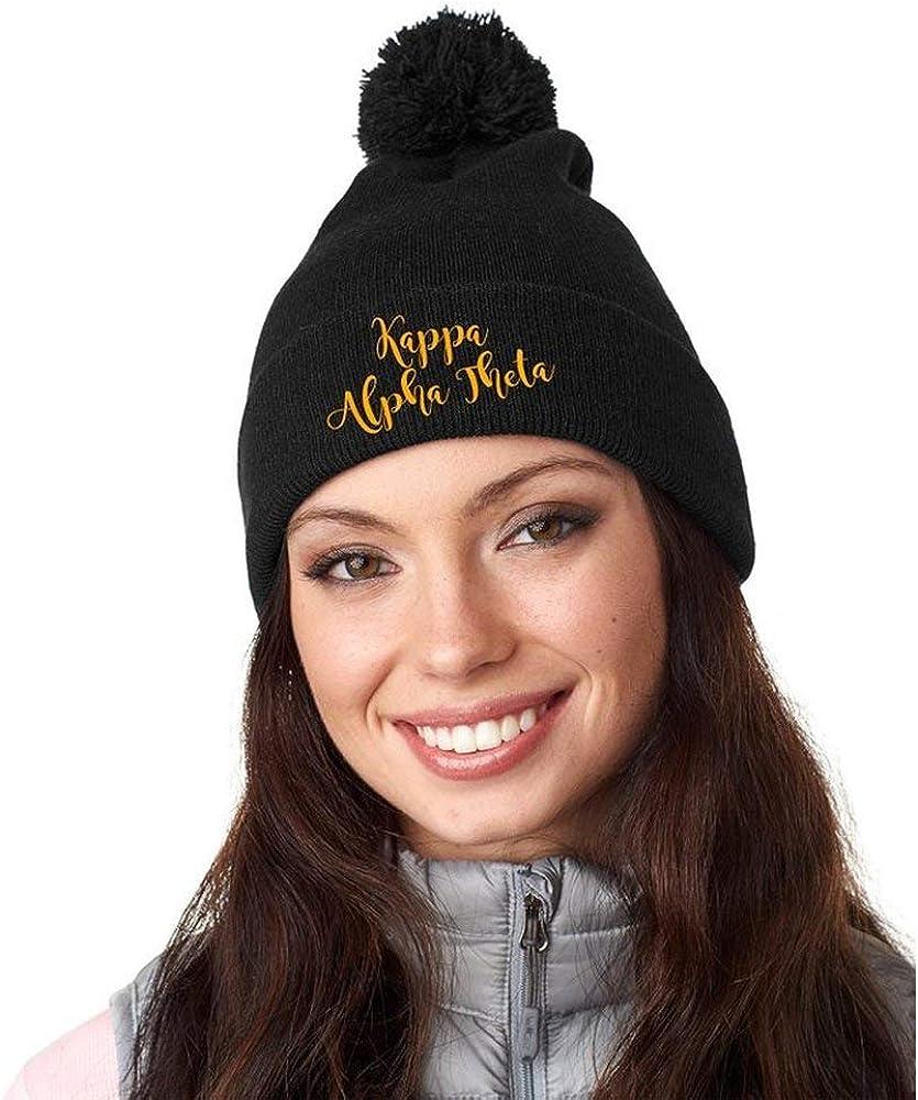 Kappa Alpha Theta Knit Pom-Pom Beanie with Cuff