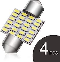 GOSMY LED Dome Lights 31mm 1.25inch Map Interior Light Festoon Led Bulbs for Car DE3021 3175 Xenon White 4Pcs …
