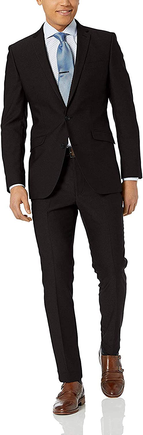 HOTK Men's Suits Custom Made Notch Lapel Groom Tuxedos Slim Fit 2 Piece One Button Business Formal Suit
