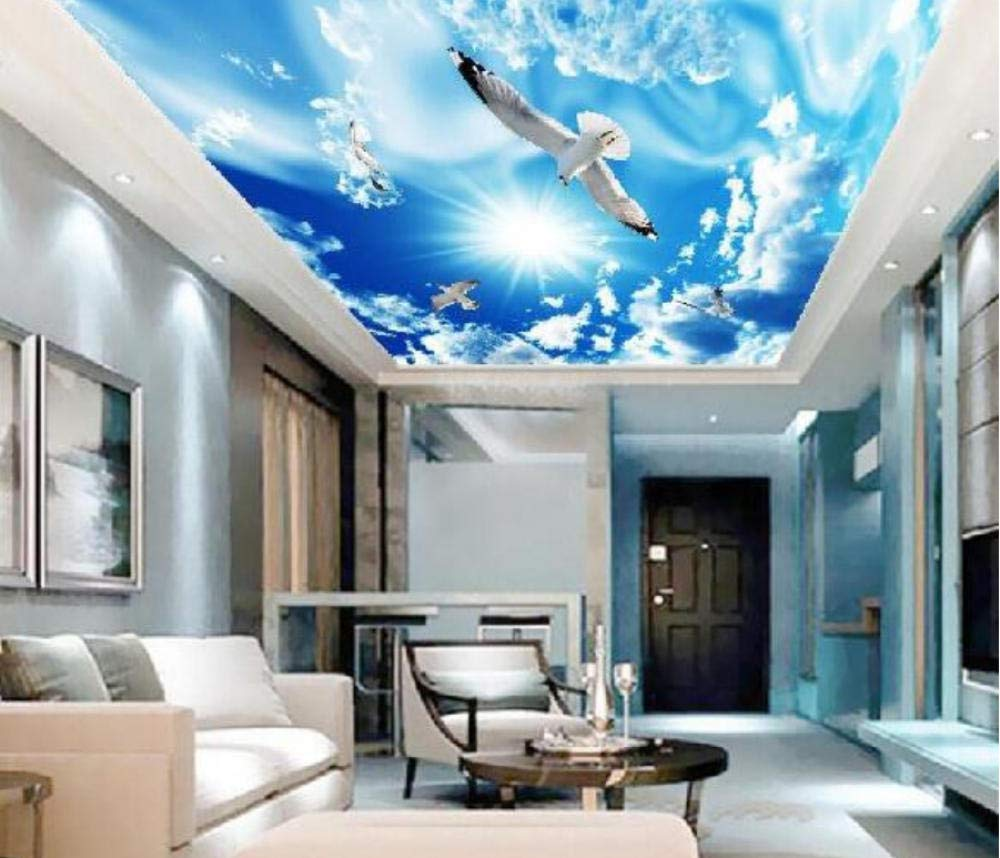 Hwhz Custom Photo Wallpaper 3d Living Room Bedroom Restaurant Ceiling Lamp Pool Background Wall Blue Sky Background Wallpaper Mural 350x250cm Amazon Com Au Home Improvement