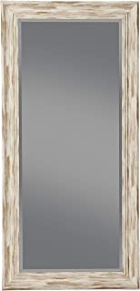 Benjara, White Benzara BM178071 Full Length Leaner Mirror with Polystyrene Frame