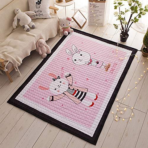 Small-rugs Tapis De Jeu pour Enfants en Bas âge Enfants Décor De Chambre à Coucher Tapis De Salon Doux & Amp; Épais Tapis Antidérapant Pliable D-1.45 * 1.95M