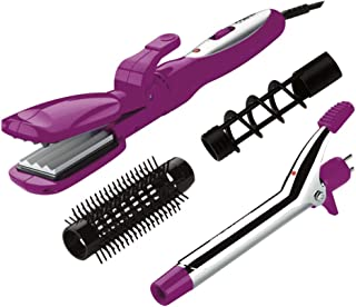 Conair Special Styles Ceramic Combo Styler - Straightening/crimping plates and 3/4-inch Curling Iron; Pink