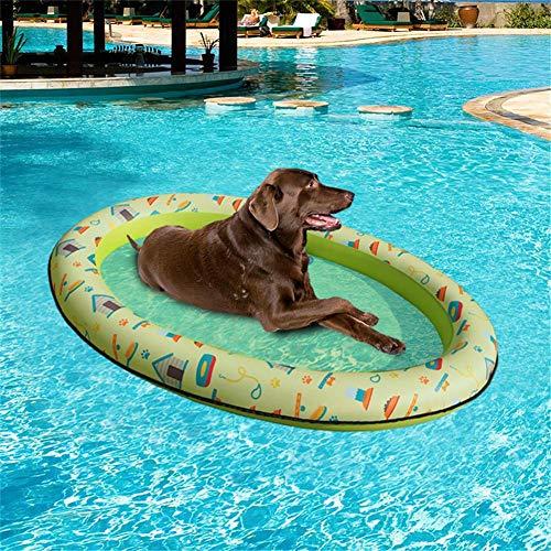 Aurely Zwembad voor honden, drijvende opblaasbare hangmat, zwembad, zwembed in het voorjaar en de zomer, lichtgewicht en draagbaar 210D doek buiten hoge graden.