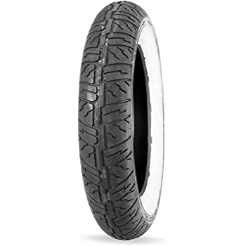 Dunlop Cruisemax Front Motorcycle Tire 130/90–16 (67H) Wide White Wall – Fits: Harley–Davidson Electra–Glide Classic FLHTC/I 1991–1998