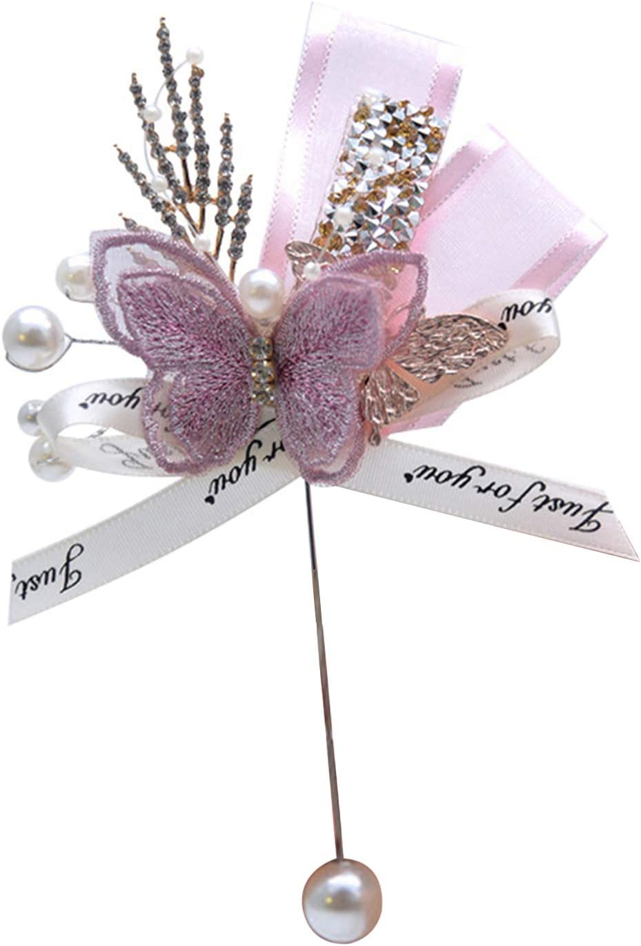 yuye-xthriv Max 45% OFF List price Groom Butterfly Brooch Pin Corsage