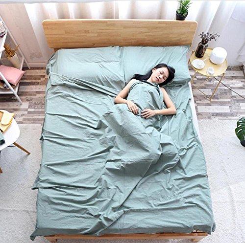 Double/Single Person Draagbare Envelop Type Katoen Slaapzak Hotel Outdoor Vier Seizoenen Volwassen Opvouwbare Slaapzak 3 Maten