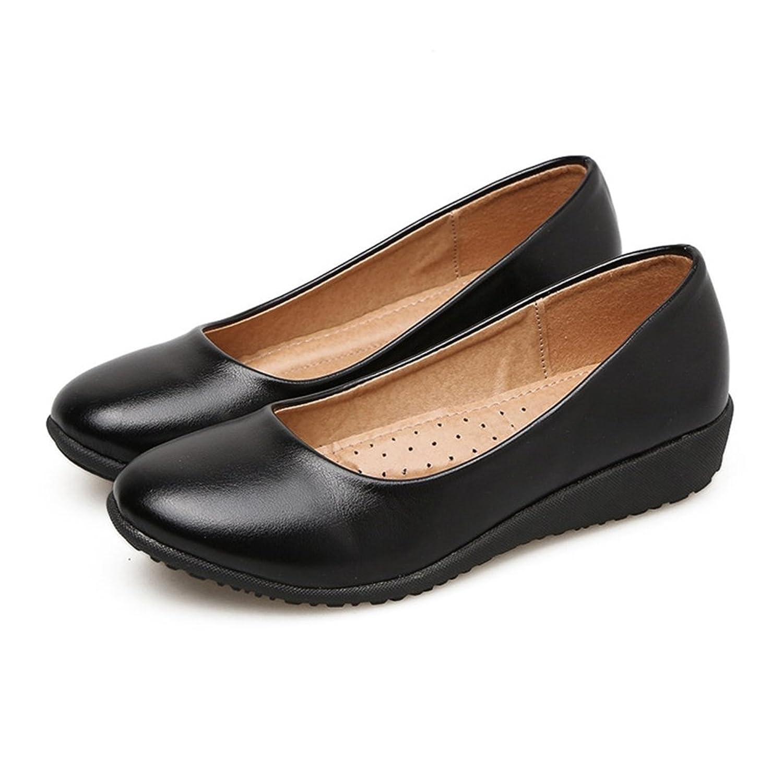 [テンカ] 婦人靴 歩きやすい フラットシューズ レディース パンプス モカシン ローヒール 軽量 厚底 防滑 痛くない 柔らかい コンフォー お出かけ 通勤 通学 冠婚葬祭 フォーマル カジュアル