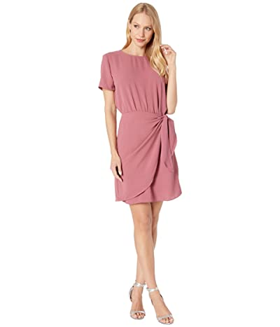 American Rose Gianna Short Sleeve Dress with Side Tie (Mulberry) Women