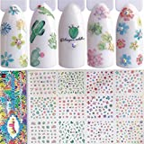 48 Pattern 4 Sheets Water Transfer DIY Nail Art Decals Stickers With Flower Cartoon And Different Patterns For Women and Kids