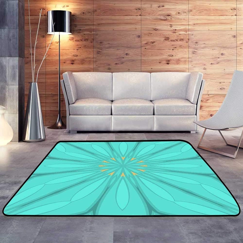 Carpet mat,Floral Texture on color Element for Design Geometric.W 55  x L63 Floor Mat Entrance Doormat