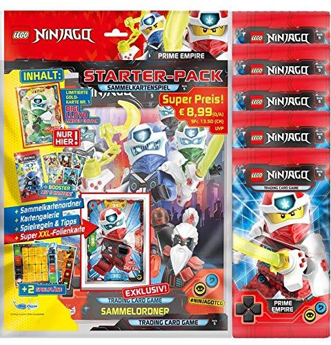 Blue Ocean Lego Ninjago - Serie 5 Trading Cards - 1 Starter + 5 Booster