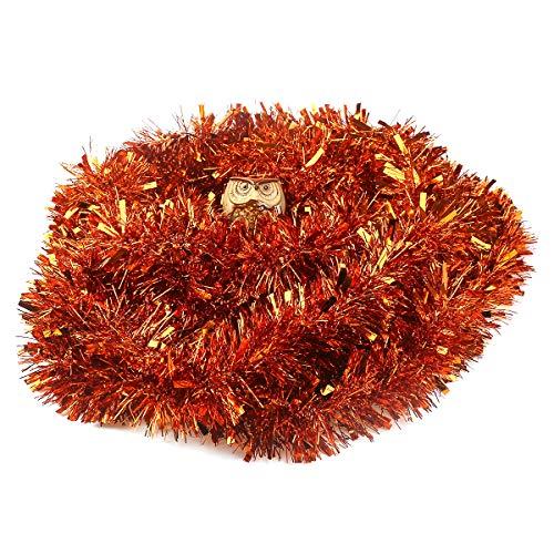 VEYLIN - Decorazione natalizia per albero di Natale, 10 m, colore: argento Rame