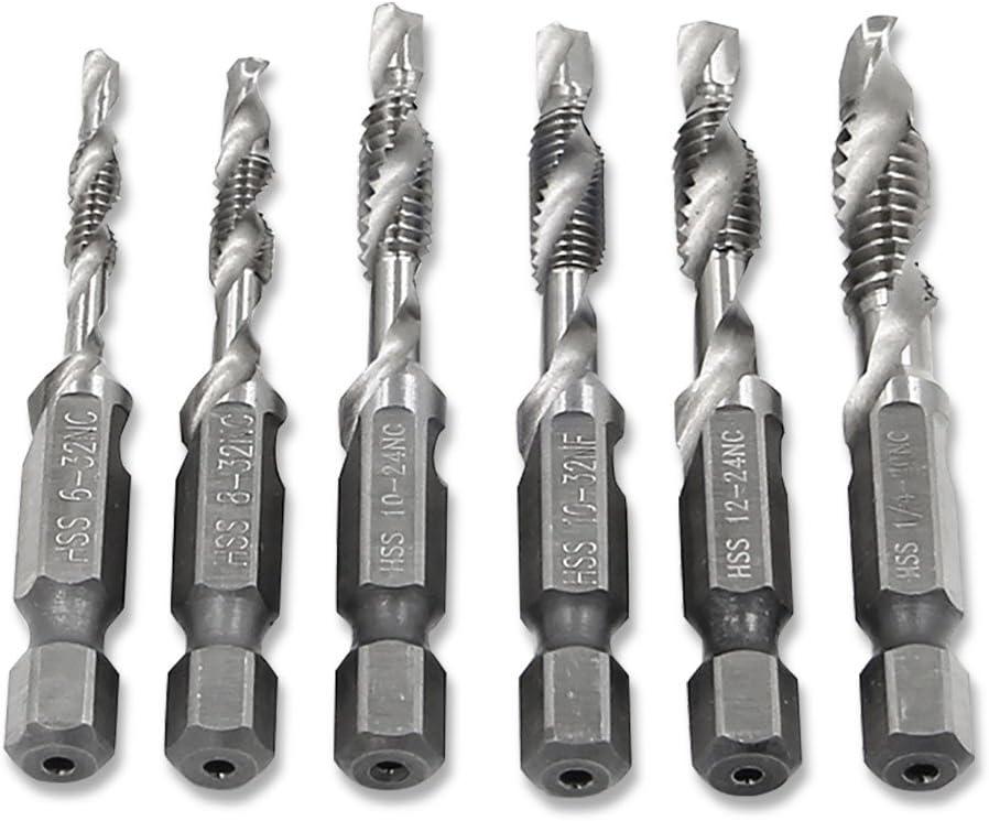 Max 69% OFF NUZAMAS Set of 6 Screw Thread Shank Max 40% OFF Drill Hex Tap HSS