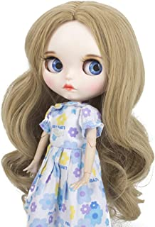 Wigs Only!Heat Resistant Synthetic Blonde Body Wavy Blythe/Pullip Doll Wig Gift for Your Baby Doll