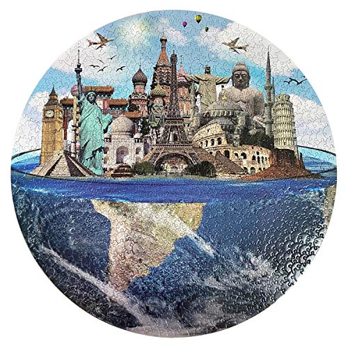 Jigsaw Puzzles for Adults 1000 Piece World Scenic Spots  Jigsaw Puzzle for Adults Teens Kids Family Puzzle Game Toy Gift