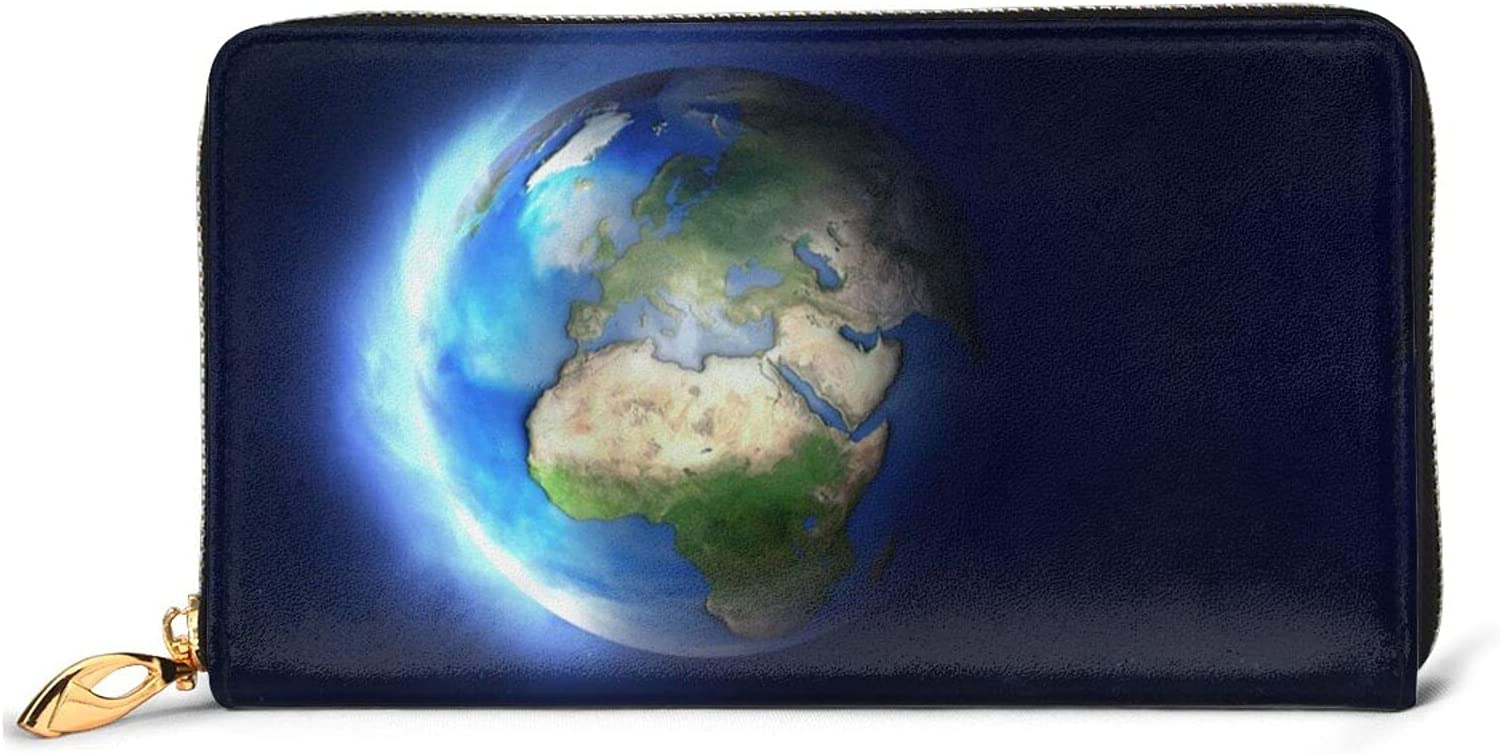 Glowing Earth Leather Wallet Women Around Baltimore Limited price sale Mall Purse Clutch Zip Long