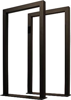 サンニード テーブル 脚 パーツ CTLG-2 2個1組 奥行43 高さ82cm アイアン ブラック 黒